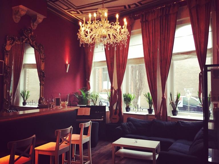 Lybeer Hostel lobby in Bruges