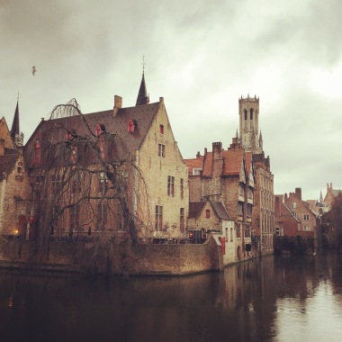 A more gloomy version of my favourite view of Bruges.