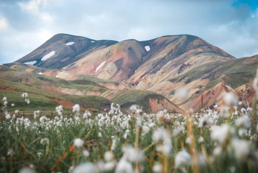 The fascinating rhyolite mountains in the highlands of Iceland - here pictured at Landmannalaugar.