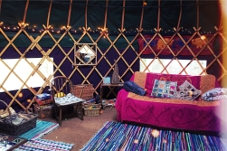 ... and inside the Yurt