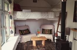 The caravan inside