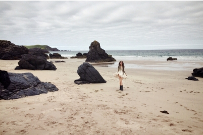 Exploring some of Scotland's north coast beaches and having a little Marilyn Monroe moment