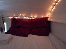 The cozy bed