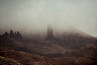 The Old Man of Storr in fog