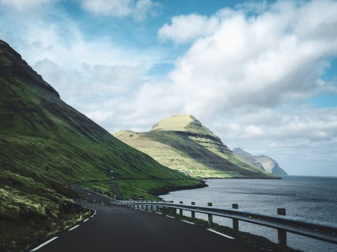 There is only one road on Kalsoy - from the point of ferry landing in Syðradalur all the way to Trøllanes.